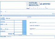 gbc Fatture-ricevute di affitto formato a6 (9,9x17cm), in duplice copia su carta chimica autoricalcante, rilegatura pinzata laterale + zigrinatura per lo strappo.