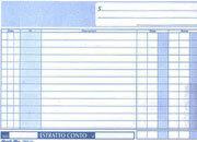 gbc Estratto conto formato a5 (22x13,5cm), 100 pagine, carta uso mano, rilegatura pinzata sul lato + zigrinatura per lo strappo.