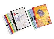 gbc Copertina con molla FLASH MEC  Colore: azzurro. Dimensione formato utile: 21x29,7cm. Capacità: 5 mm.