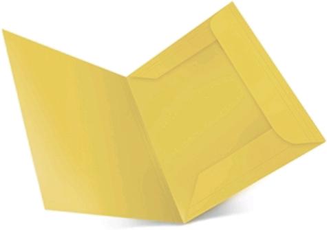 gbc 25 cartelline ECO Spring Light a 3 lembi (alette), in cartoncino ecologico riciclato post consumer al 100% GIALLO. Formato BC (25,5x33cm), 150gr. Una linea di cartelline a 3 lembi in cartoncino ecologico riciclato al 100%, Capacità: 3cm. Angoli arrotondati e indice frontale in rilievo. Formato A4 e protocollo.