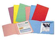 gbc 25 cartelline ECO Spring SEMPLICI, in cartoncino ecologico riciclato, colorato in pasta  ROSSO. Formato BC (25,5x33cm), 200gr. Una linea di cartelline a 3 lembi in cartoncino ecologico riciclato al 100%, Capacità: 3cm. Angoli arrotondati e indice frontale in rilievo. Formato A4 e protocollo GBC42211e-11