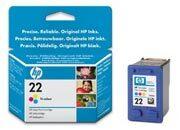 consumabili C9352CE  HEWLETT PACKARD CARTUCCIA INK-JET TRICOLORE 22XL 415P DESKJET/3920/3940 DESKJET D/2360/2460/2640 DESKJET F/300/350/380/2180/4100/4180 PSC/1400 OFFICEJET/4315/5600/5610/5615.
