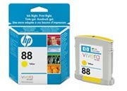 consumabili C9388AE  HEWLETT PACKARD CARTUCCIA INK-JET GIALLO 88 10ML OFFICEJET PRO SERIE/K550/K8600/L7000/L7680.