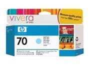 consumabili C9390A  HEWLETT PACKARD --- CIANO CHIARO 70 130ML DESINGJET/Z2100/Z3100/Z3200.