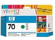 consumabili C9457A  HEWLETT PACKARD --- VERDE 70 130ML DESIGNJET/Z3100/Z3200.