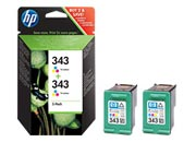consumabili CB332EE  HEWLETT PACKARD CARTUCCIA INK-JET TRICOLORE 343 PACK 2 OFFICEJET/6300SERIES/6315 PHOTOSMART/C3180 DESKJET/5940/D4160/6980.