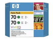 consumabili CB348A  HEWLETT PACKARD --- VERDE 70 130ML PACK 2 DESIGNJET/Z2100/Z3100/Z3200.
