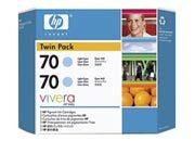 consumabili CB351A  HEWLETT PACKARD --- CIANO CHIARO 70 130ML PACK 2 DESIGNJET/Z2100/Z3100/Z3200.