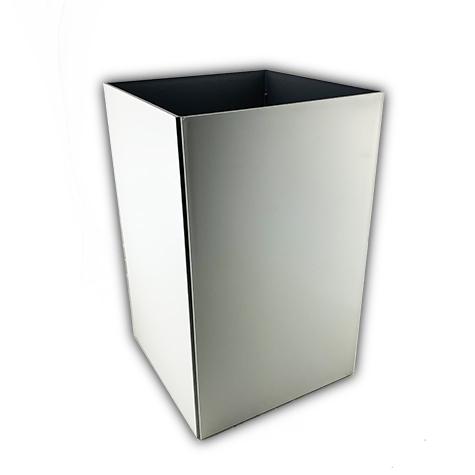 gbc Kartell, Linea Segmenti, Cestino quadrato, grigio mm250x250 h400, Design Michele de Lucchi.