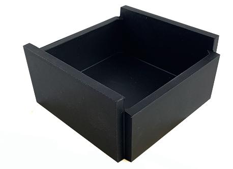 gbc Kartell, LineaSegmenti, Contenitore quadrato basso NERO. Da tavolo. mm100x100 h47, Design Michele de Lucchi.