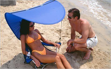kelsyus Kelsyus COMBO CHAIR con tendalino ombreggiante Sedia a sdraio trasformabile in zaino + retina portariviste sotto al sedile e cuffia di chiusura. + parasole.