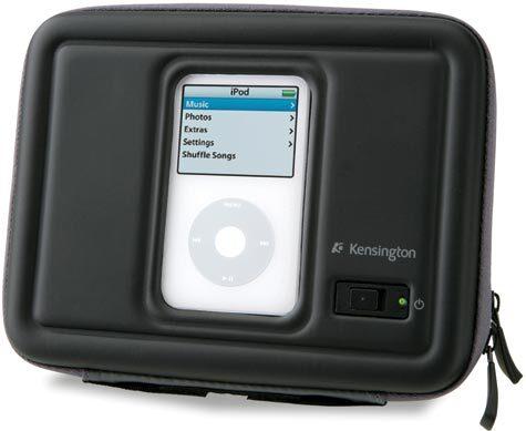 acco FX500 Speaker to Go. Altoparlanti per iPod® e MP3 Due altoparlanti integrati per un audio stereo potente e chiaro. Il contenitore ultraresistente protegge l'iPod® o il lettore MP3 mentre lo ascolti. Design supersottile, compatto, ideale per il viaggio.
