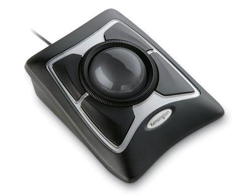 acco Expert Mouse Optical . Grande Trackball ottica con anello rotante  4 ampi tasti personalizzabili per l'esecuzione di applicazioni, collegamenti web o script. Fornito di speciale poggiapolsi. SCROLL RINGtm: eccellente sistema ad anello rotante. Tecnologia OTTICA. Trackball di grande formato..