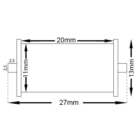 gbc Rullino inchiostratore per prezzatrice prima lebez art.200 rullino inchiostrato di ricambio per prezzatrice prima lebez art.200, mm 11-13x20-23.