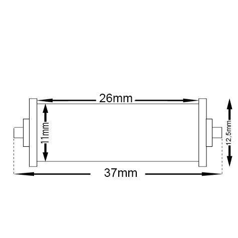 gbc Rullino inchiostratore per prezzatrice prima lebez art.203 rullino inchiostrato di ricambio per prezzatrice prima lebez art.203, mm 11-13x25-29.