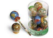 lebez Globo mappamondo diametro 4cm con temperamatite.