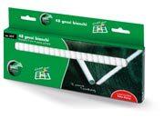 lebez Gessi bianchi a sezione circolare diametro 9mm, lunghezza 8cm. Senza polvere.