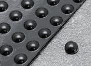 legatoria Paracolpi in gomma autoadesivi, diametro 8mm NERO,  semisferici, spessore 2,2mm, adesivo permanente.