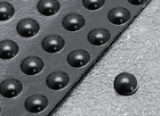 legatoria Paracolpi in gomma autoadesivo, diametro 6,4mm NERO, a disco semisferico, spessore 1.9mm, adesivo permanente*.