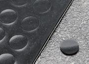 legatoria Paracolpi in gomma autoadesivo, diametro 8mm NERO, a disco, spessore 1mm, adesivo permanente*.
