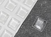 legatoria Paracolpi in gomma autoadesivo, diametro 10mm TRASPARENTE, a trapezio, spessore 10mm, adesivo permanente*.