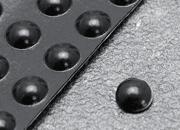legatoria Paracolpi in gomma autoadesivo, diametro 10mm NERO, a disco semisferico, spessore 3.2mm, adesivo permanente*.