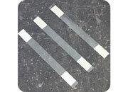 legatoria Supporto per cartelli Wobbler, 170x15mm TRASPARENTE, con due estremità autoadesive permanenti. In polietilene 280 micron.