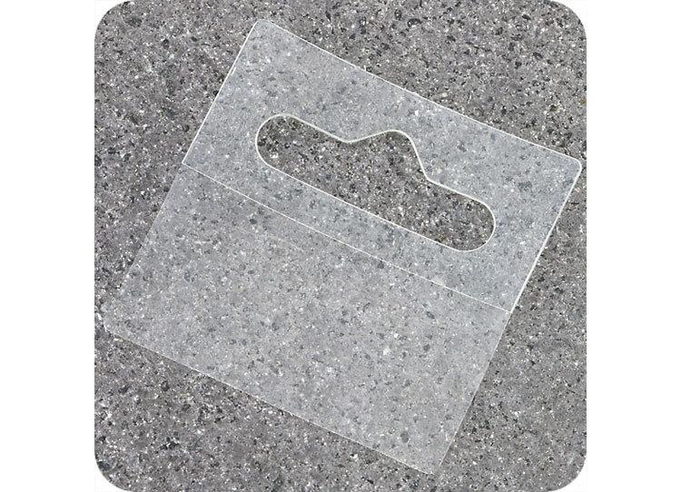 legatoria Appendini trasparenti autoadesivi per blister 50x50mm foratura standard europea. In PET trasparente flessibile da 325 micron, per oggetti fino a 400 grammi. In rotolo.
