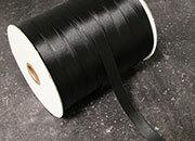 legatoria Nastro di raso, spessore 15mm NERO, tinta unita..