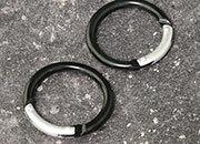 legatoria Moschettone tondo 50mm NERO, in alluminio. Diametro esterno 50mm, spessore 5.5mm. Non adatto per arrampicate.