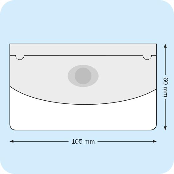 gbc Business Card Pocket. Portabiglietti da visita adesivo 105x60mm con pattella e punto adesivo per chiusura , apertura sul lato lungo, il foglio frontale è ribassato. Il flap di chiusura garantisce una maggior protezione. Può contenere numerosi biglietti. S682501.