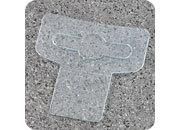 legatoria Appendini trasparenti autoadesivi per blister 40x45mm foratura standard europea a T, in PET da 400micron, per oggetti fino a 400 grammi. In rotolo.
