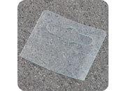 legatoria Appendini trasparenti autoadesivi per blister 44x52mm foratura standard europea. In PET trasparente da 400 micron, per oggetti fino a 1000 grammi. In rotolo.