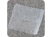 legatoria Appendini trasparenti autoadesivi per blister 47x50mm foratura standard europea. In PET trasparente flessibile da 400 micron, per oggetti fino a 300 grammi. In rotolo.