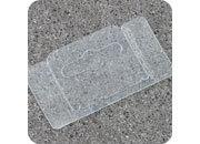 legatoria Appendini trasparenti autoadesivi per blister 62x35mm foratura standard europea piegevole, in PET da 400micron, con due superfici adesive, per oggetti fino a 400 grammi. In rotolo.