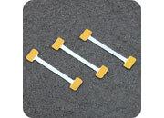 legatoria Supporto per cartelli Wobbler, 75x5/15mm ALLUMINIO pieghevole. Con due estremità autoadesive in schiuma di polietilene molto tenace.