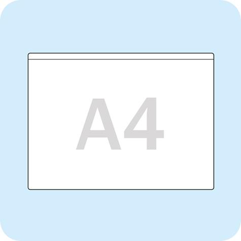 gbc Maxi pocket A4 Tasche per raccoglitori, autoadesive, A4. In polipropilene, rettangolari, apertura sul lato corto, base mm 220, altezza mm 305. Per riporre manuali, documenti e prospetti proprio là dove occorrono. .