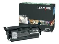 consumabili X651H04E  LEXMARK CARTUCCIA DI STAMPA NERO 25.000 PAGINE RESTITUIBILE X/651/652/654/656/658.