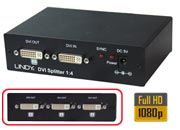 lindy Video Splitter DVI & HDTV, 4 Porte Invia un segnale DVI a 4 Monitor DVI.