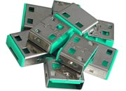 lindy Serrature addizionali per porte USB Verdi Serrature addizionali verdi.