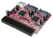lindy Adattatore 2 x Serial ATA a Mainboard IDE Drive SATA a interfaccia IDE.