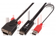 lindy Cavo adattatore hdmi a vga, 1m Invia un segnale HDMI ad un monitor o videoproiettore VGA.