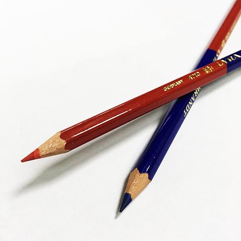 gbc Matita bicolore rosso-blu LYRA fusto s sezione esagonale. da 7mm. Affilata.