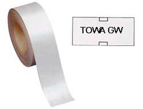 gbc Etichette 26x12 per prezzatrice Towa ARANCIO fluorescente, adesivo PERMANENTE, per prezzatrice Towa gw.