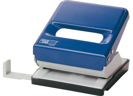 molholeone Perforatore Leone 520, 2 fori BLU, fora fino a 30 fogli (3mm), squadra regolabile per i formati A4, A5, A6 e 888 (4 fori sul formato A4 eseguiti in 2 passaggi).