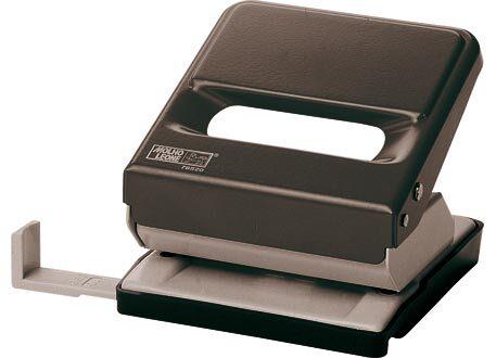 molholeone Perforatore Leone 520, 2 fori NERO, fora fino a 30 fogli (3mm), squadra regolabile per i formati A4, A5, A6 e 888 (4 fori sul formato A4 eseguiti in 2 passaggi).