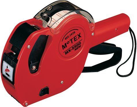 gbc Prezzatrice motex Mx-5500 1banda 8colonne prezzatrice numerica ad 1 banda 8 colonne. utilizza etichette 21x12cm e 2212 con 2 semifori.