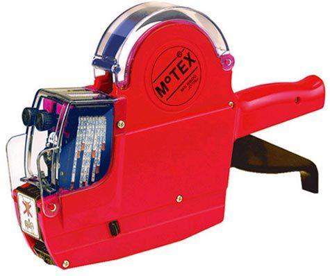 gbc Prezzatrice motex Mx-6600 2 bande 20 colonne prezzatrice alfanumerica a 2 bande 10 colonne numeriche + 10 colonne alfabetiche.