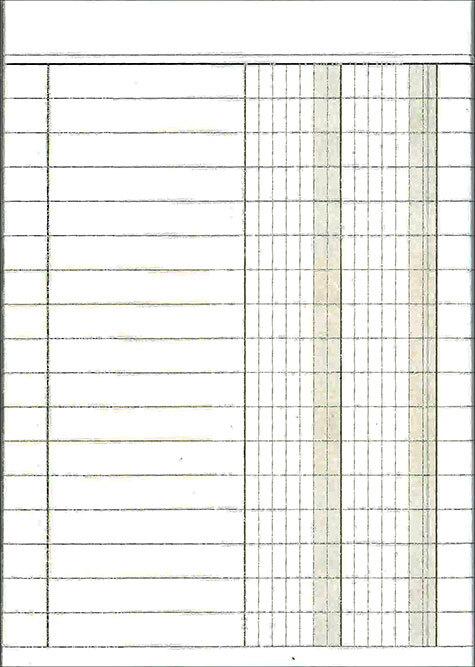 gbc Blocco prima nota tascabile a 2 colonne formato a6 (105x150mm), 80 facciate, carta uso mano, rilegatura cucita a sella.
