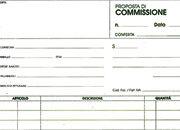 gbc Copia Commissioni formato a4 (21x29,7cm), 100 pagine, carta uso mano, rilegatura pinzata in testa + zigrinatura per lo strappo.